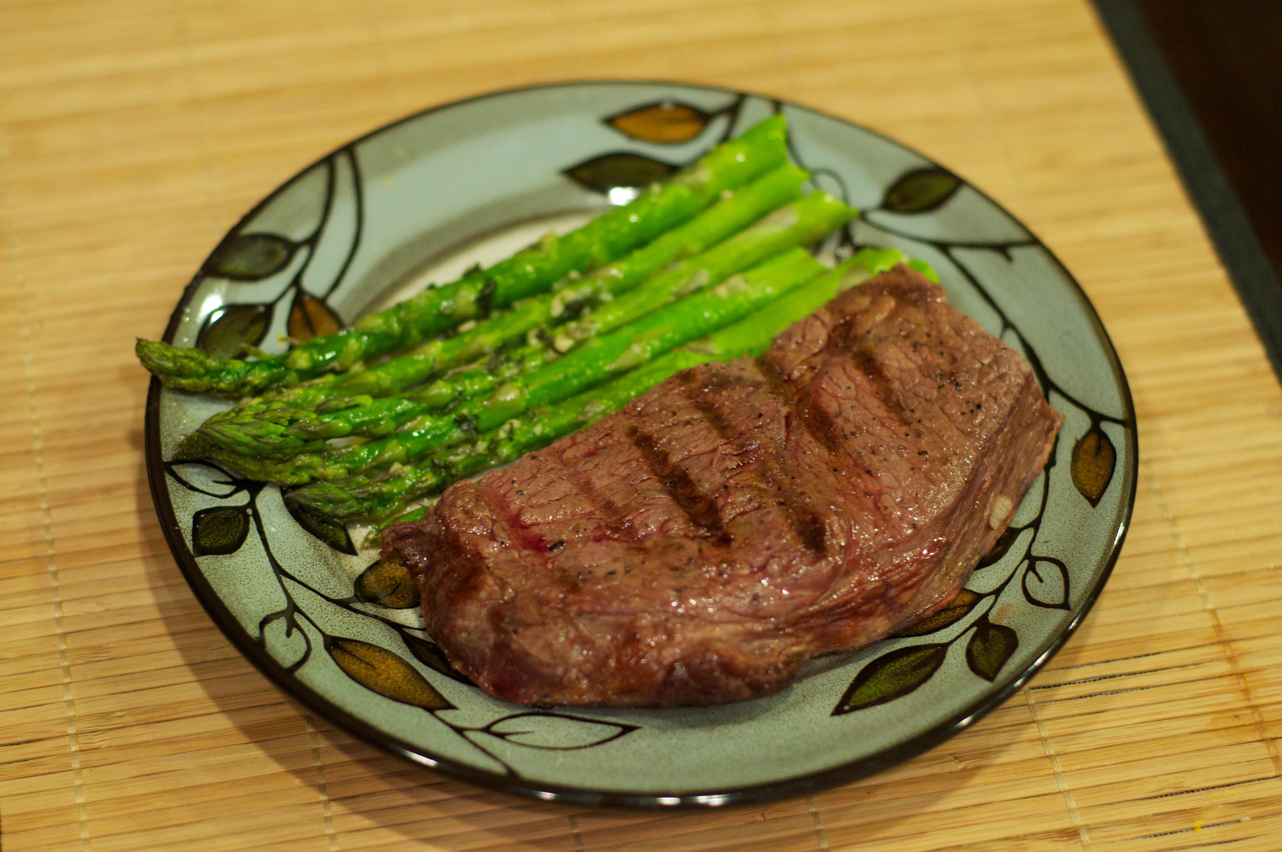 Steak And Asparagus 3