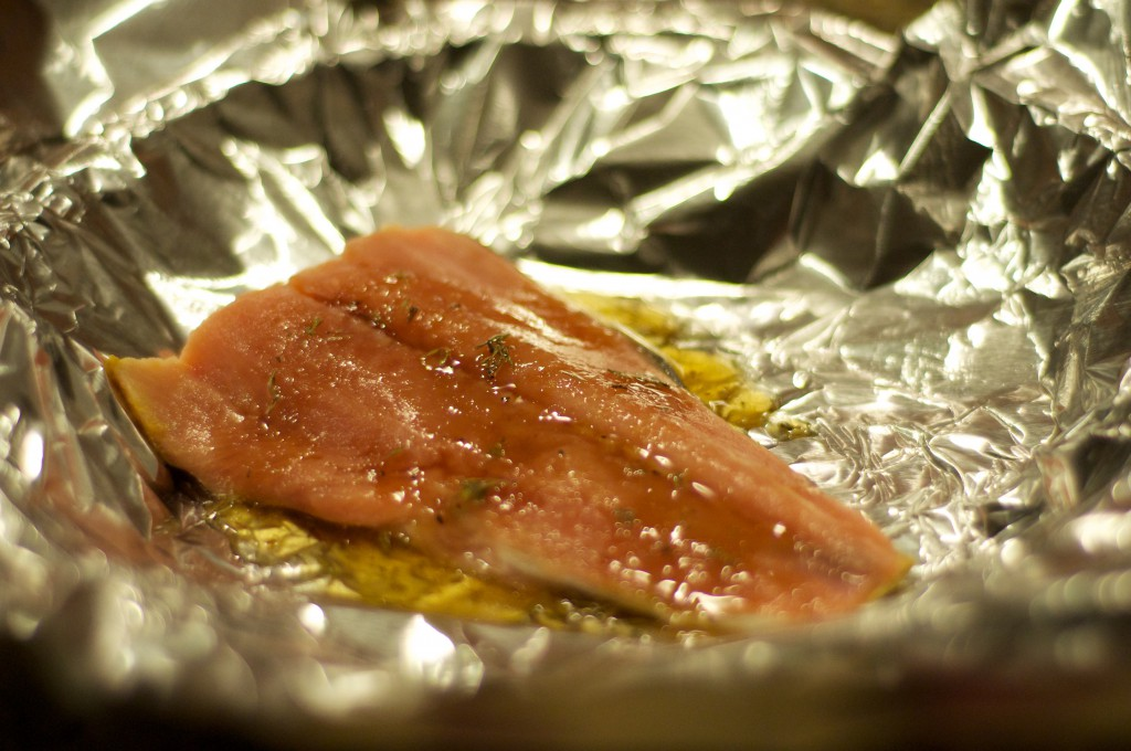 Honey Salmon in Foil 4