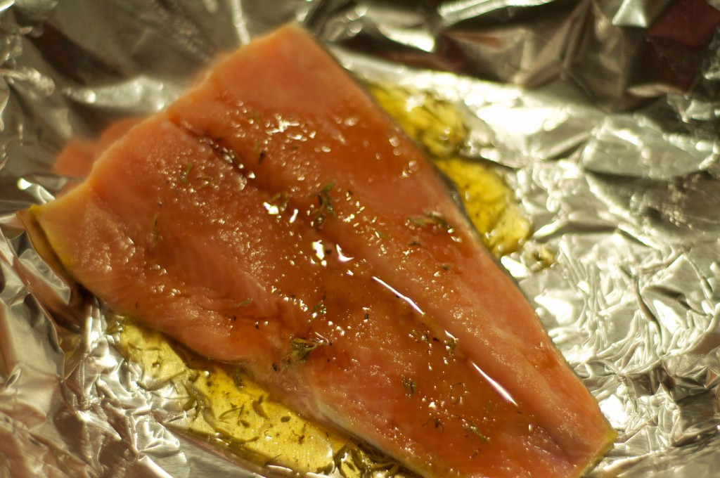 Honey Salmon in Foil 5