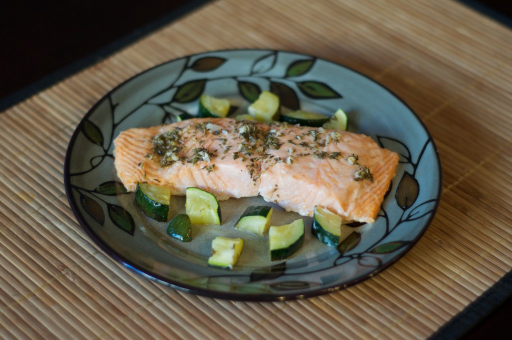 Lemon Salmon with Zucchini 2