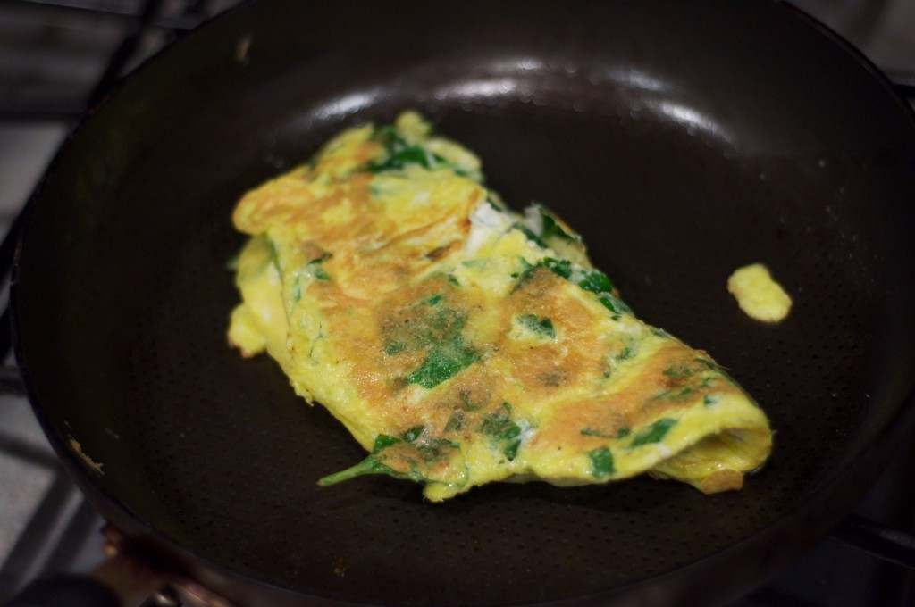 Spinach Egg and Cheese Omlet 3