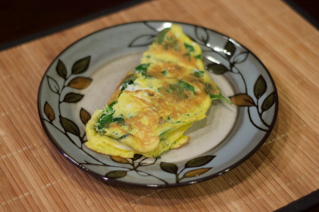 Spinach Egg and Cheese Omlet 4