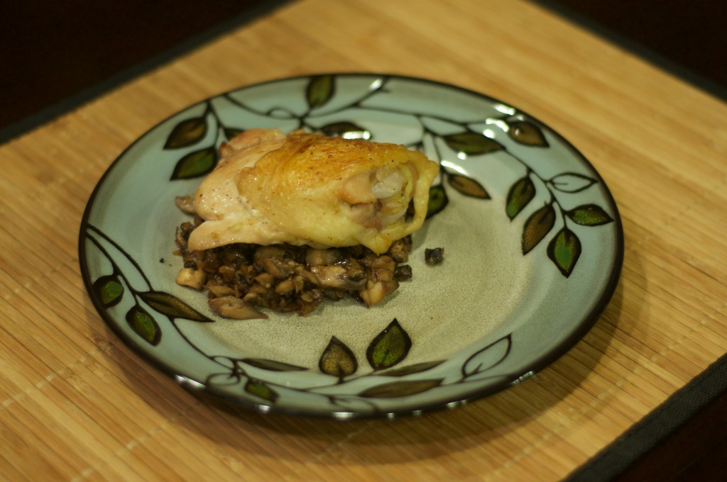 Crusty Chicken with Mushrooms and White Wine 1