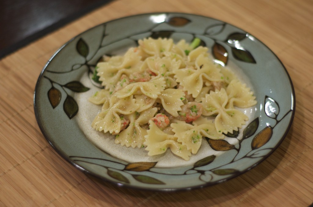 Farfalle and Brown Butter Lobster Sauce 1