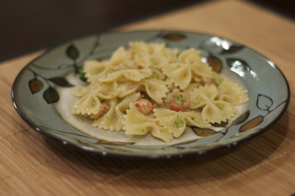 Farfalle and Brown Butter Lobster Sauce 2