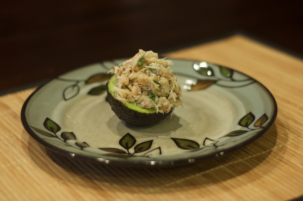 Crab Stuffed Avocado 1