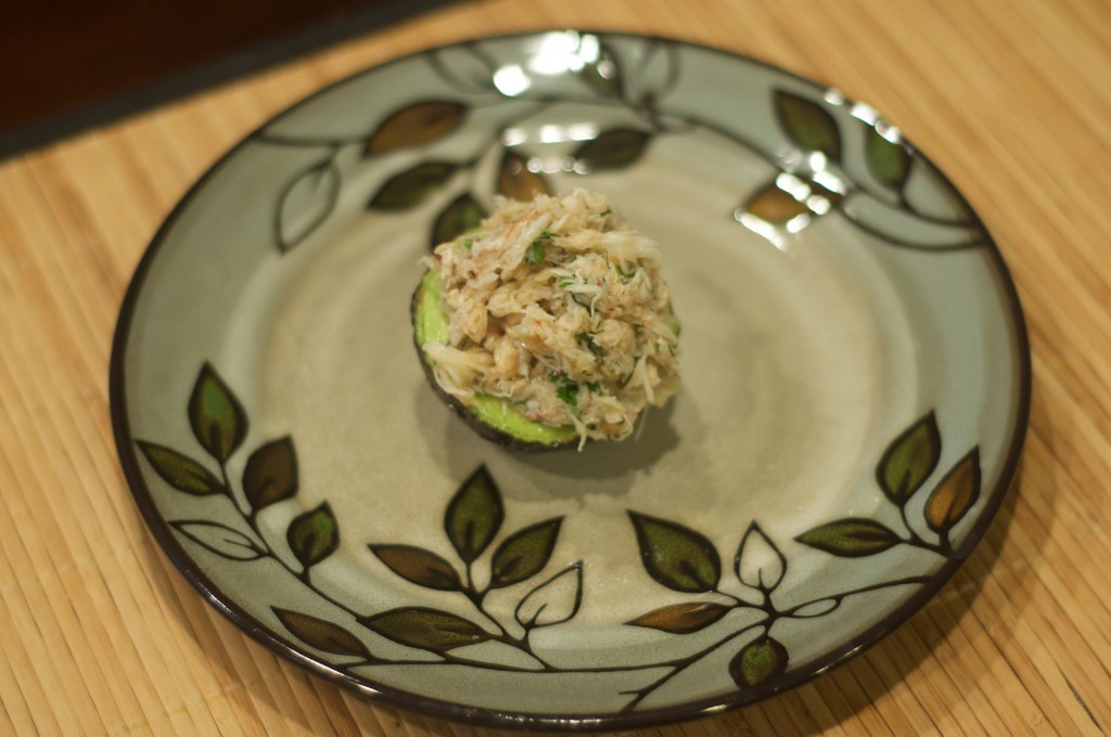 Crab Stuffed Avocado 3
